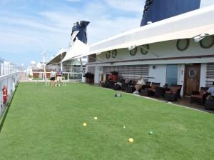 Grass on a ship