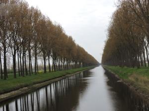 Napoleon built canals through Flanders
