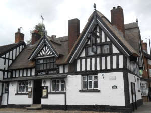 1634 Ye Olde Black Beare Inn, the last remaining thatched building in Sandbach