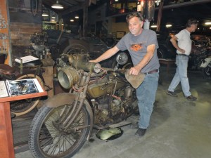 Dale Walkster with his 1918 Henderson prototype.