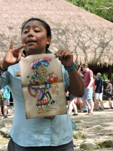 Bianca shows us the old woman goddess Ixchel.