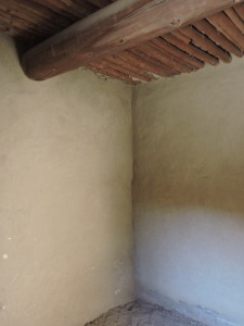 This room was built in 1082; modern plaster protects the orginal plaster from graffiti.