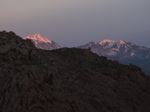 La Sal Mountain from Arches