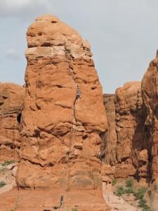 Rock climbers love Arches N.P.