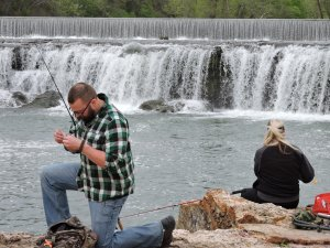 Grand Falls outside Joplin, Missouri