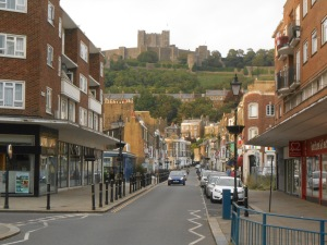 Dover Castle sits above the town.