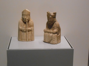 Two pieces from the Lewis Chessmen