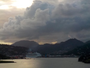 Castries in the early morning.