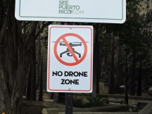 A recent sign on the paseo.