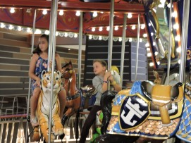 Royal Caribbean's Harmony of the Seas: Riding the carousel in Boardwalk