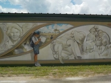 Detail of mural on forestry