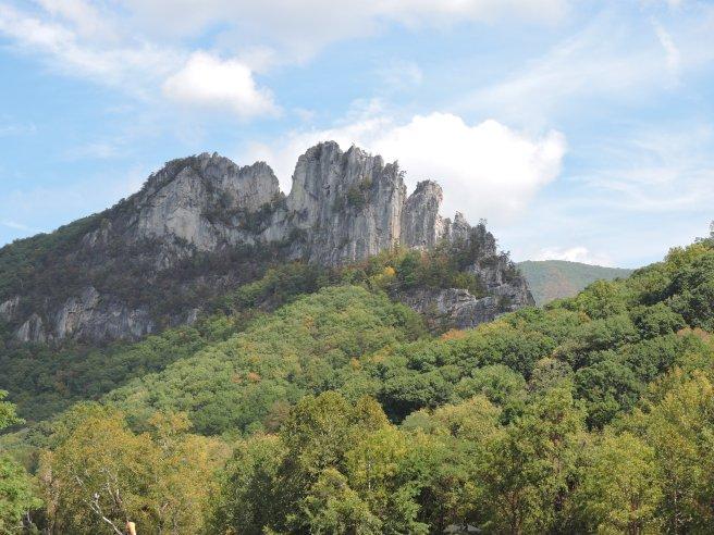 Seneca Rocks is an unusual formation for the Appalachians.