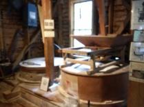 Grist mill using original 1876 French Bur stones