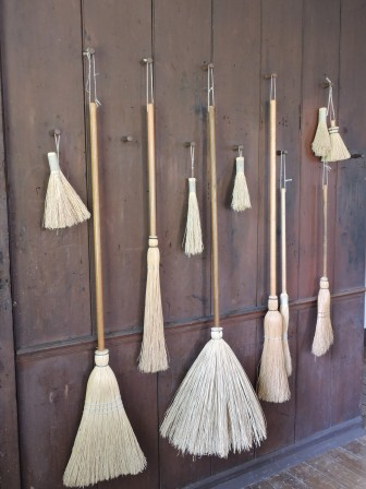Flat and old-style brooms
