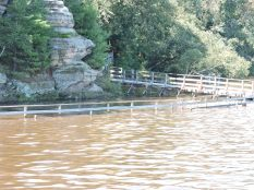 The Wisconsin River was high during our visit.