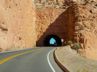There are several tunnels along Rim Rock Drive.