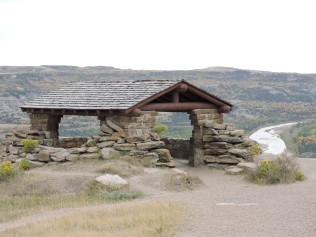 The Riverbend Overlook was built by the Civilian Conservation Corps in the 1930s.