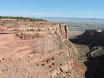 Rim Rock Trail goes up and across the Colorado National Monument