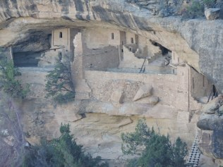 The wall in front of the balcony protected toddlers: Balcony House, Mesa Verde AD 1200