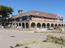 The 1898 Castanéa, a Harvey House Hotel, was being restored.
