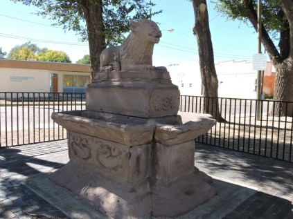 The ladies came up with the idea to install this drinking fountain near the saloons to encourage drinking water.