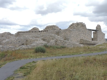 Uncompleted mission church at Gran Quivera 1659-1670