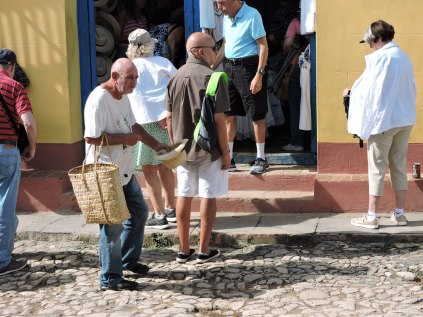 Beggars were common outside Havana