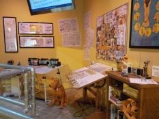 """""""Marmaduke"""" Cartoonist Brad Anderson's studio."""