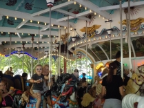 Hershey, PA: The carousel still uses a 1926 military band organ with 164 pipes and 16 bells.