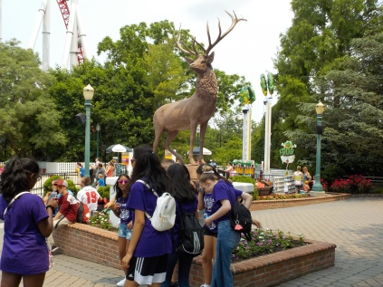 Milton Hershey purchased this elk for the park in 1913.