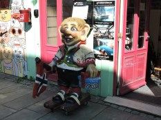 It seems every Norwegian town has a troll; this one has skateboards.