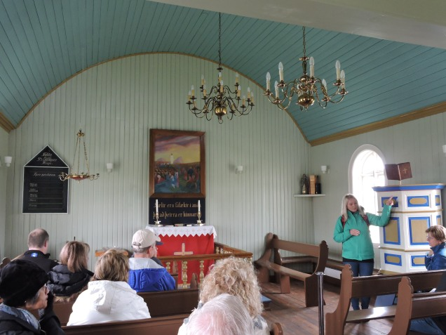 Bakkagerdiskirkja - the village church with a painting of the Sermon on The Mount from Álfaborg