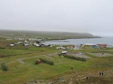 Fishing village Bakkagerdi from Álfaborg