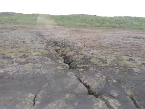 Where the North American and Eurasian plates meet.