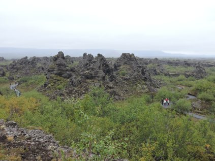 Volcanic fields in Bardardalur Valley