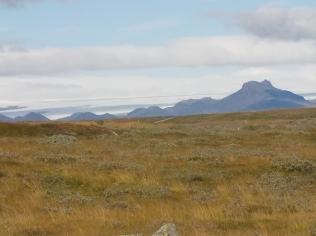 Vatnajökull glacier from Gullfoss