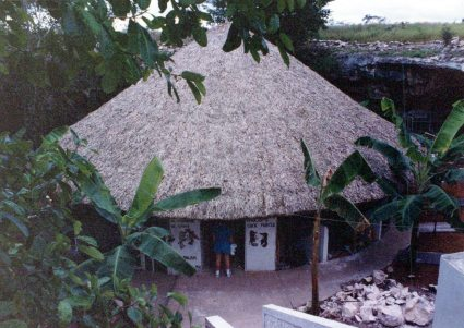 Restaurant and Cock Fighting Arena in a limestone cenote