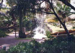 The famous Coco Palms lagoon is said to still exist.