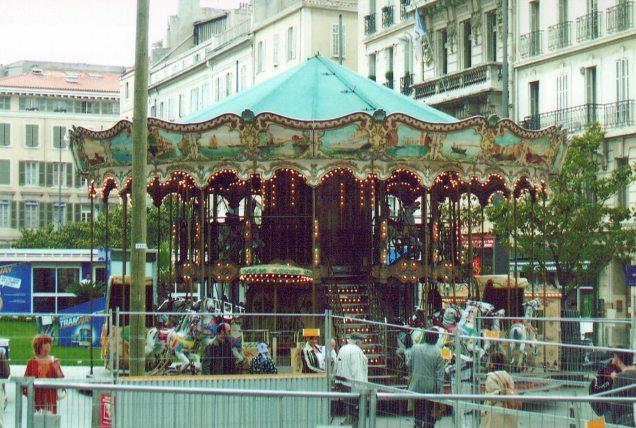 A double decker carousel in Marsailles 2006