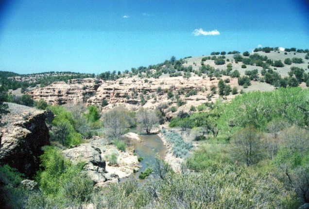 Our picnic spot at Gila Cliff Dwellings National Monument 8 May 05