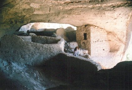 Each room in the two story building had a fireplace suggesting it was two separate dwellings.