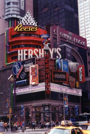 Times Square: I grew up in Hershey, PA.