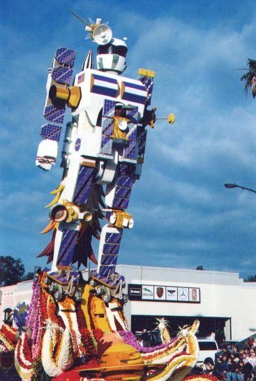Jet Propulsion Lab/Caltech 50 ft high float honors various space exploration devices.