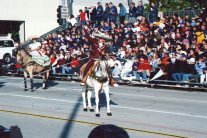 Horses are always a big part of the parade.