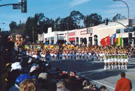 School bands came from all over the country.