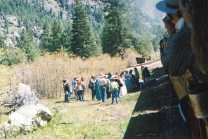 The wedding party at Cascade.