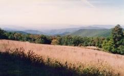 Blue Ridge Mountains: Skyline Drive 1993: unusually good visibility: Shenandoah National Park