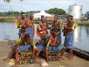 Madang Band, different bamboo sizes produce different sounds