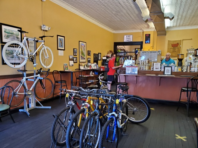 """""""A coffee shop with a bicycle problem."""""""