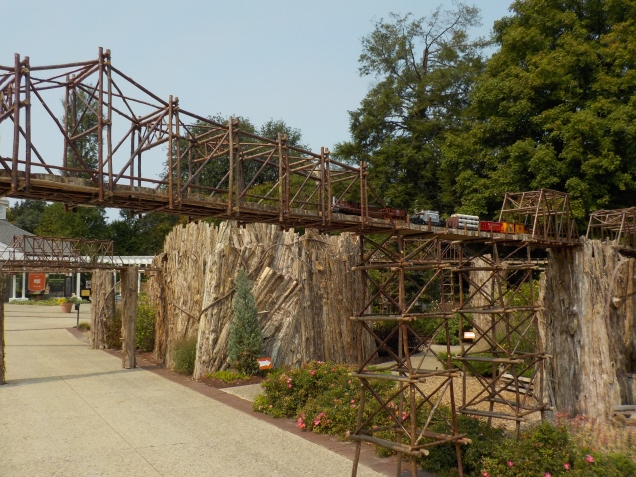 Trestle created from plants.